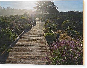 Morning Glory Wood Print by Lynn Bauer