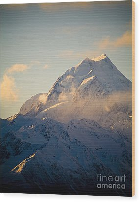 Mount Cook New Zeland Wood Print by Tim Hester