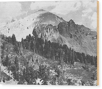 Mount Lassen Volcano Wood Print by Frank Wilson