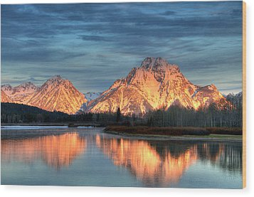 Mount Moran Wood Print by Steve Stuller