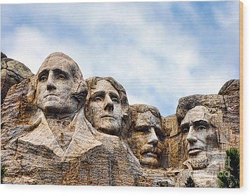 Mount Rushmore Monument Wood Print by Olivier Le Queinec