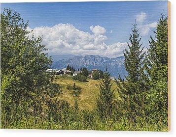 Mountain Panorama. Italy Wood Print