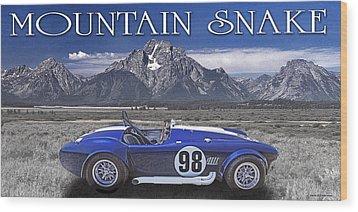 Mountain Snake Wood Print
