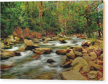 Mountain Stream Wood Print by Ed Roberts