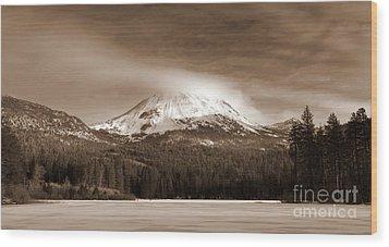 Mt. Lassen Wood Print