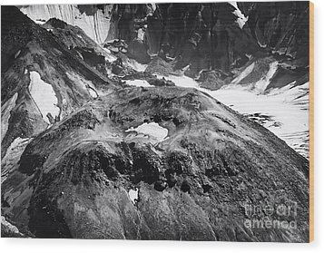 Wood Print featuring the photograph Mt St. Helen's Crater by David Millenheft
