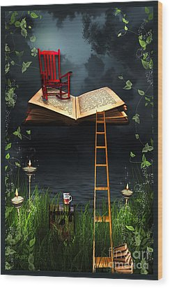 My Book Said Come Fly With Me Wood Print by Paula Ayers