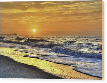 Myrtle Beach South Carolina Sunrise Wood Print