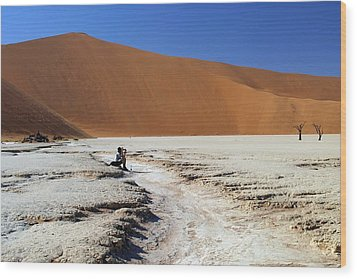 Wood Print featuring the photograph Namibia Dunes  by Riana Van Staden
