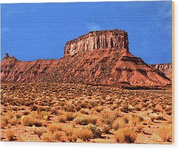 Wood Print featuring the painting National Navajo Tribal Park by Bob and Nadine Johnston