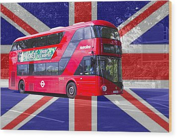 New London Red Bus Wood Print
