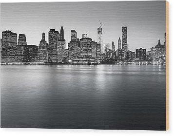 New York City Skyline Wood Print by Vivienne Gucwa