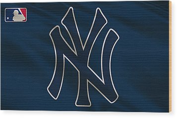 New York Yankees Uniform Wood Print by Joe Hamilton