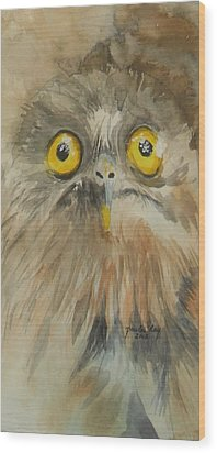Night Eyes Wood Print