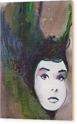 Wood Print featuring the painting Nina by Ed  Heaton