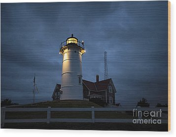 Nobska Lighthouse Wood Print by John Greim