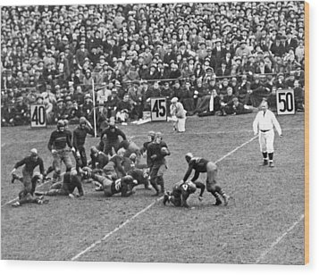 Notre Dame-army Football Game Wood Print by Underwood Archives