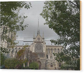 Wood Print featuring the photograph Notre Dame Cathedral by Deborah Smolinske