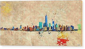 Nyc Grunge Wood Print