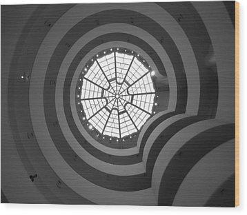 Nyc Guggenheim Wood Print by Nina Papiorek