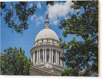 Oklahoma State Capital Dome Wood Print