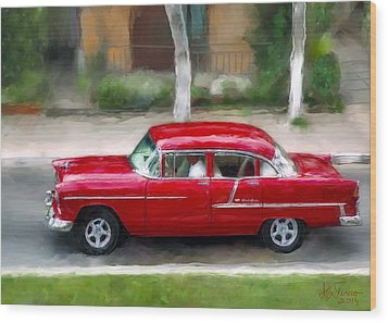 Wood Print featuring the photograph Red Bel Air by Juan Carlos Ferro Duque