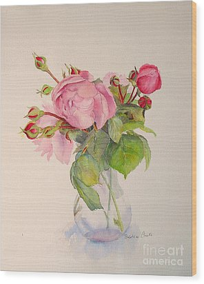 Old Roses Wood Print by Beatrice Cloake