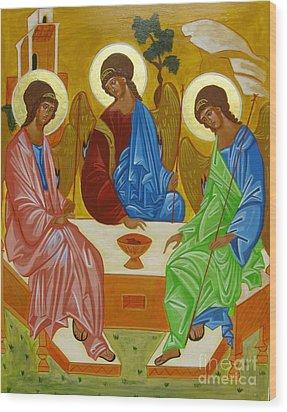 Old Testament Trinity Wood Print by Joseph Malham