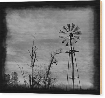 Wood Print featuring the photograph Old West Wind Wheel by William Havle