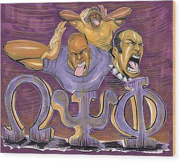 Omega Psi Phi II Wood Print