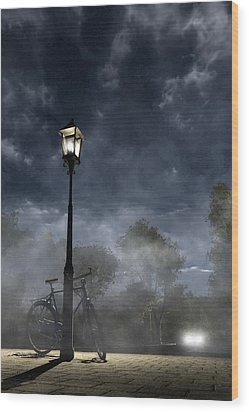 Ominous Avenue Wood Print by Cynthia Decker