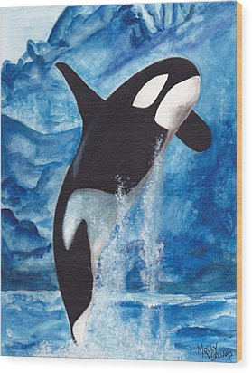 Orca Wood Print by Molly Williams