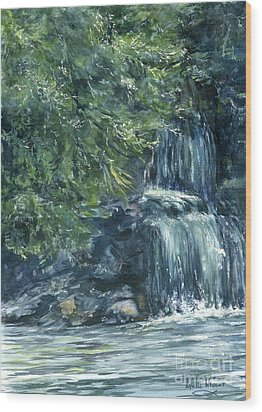 Oregon Waterfall Wood Print