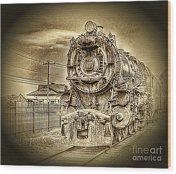 Out Of The Past Wood Print by Arnie Goldstein
