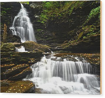 Ozone Falls Wood Print by Frozen in Time Fine Art Photography