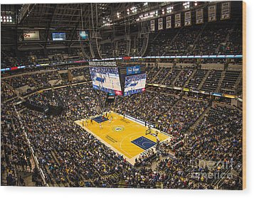 Pacers Indiana Wood Print by David Haskett
