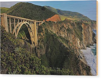 Pacific Coast Highway Wood Print by Benjamin Yeager
