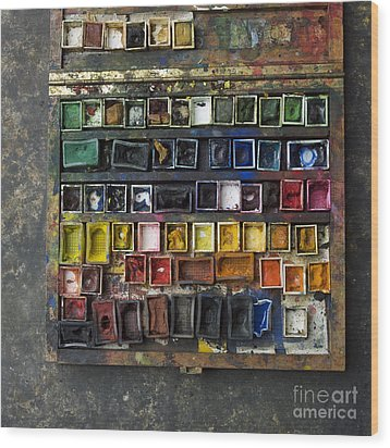 Paint Box Wood Print by Bernard Jaubert