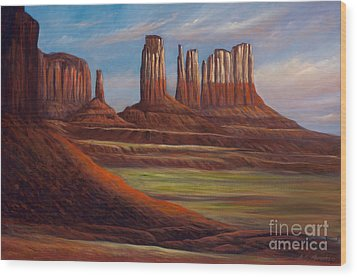 Painted Monuments Wood Print