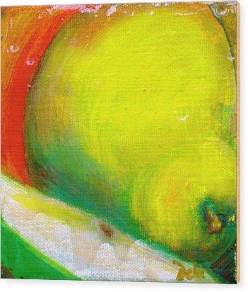 Pair Of Pears Wood Print by Debi Starr