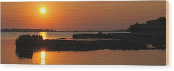 Panoramic Sunset Wood Print by Frozen in Time Fine Art Photography