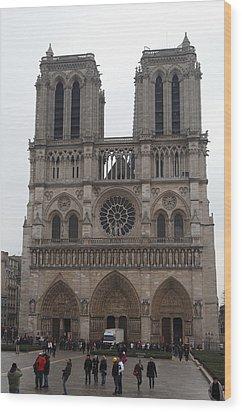 Paris France - Notre Dame De Paris - 01134 Wood Print by DC Photographer
