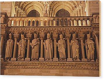 Paris France - Notre Dame De Paris - 01135 Wood Print by DC Photographer