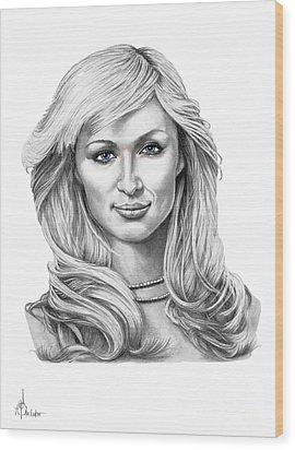 Paris Hilton Wood Print by Murphy Elliott