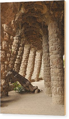 Park Guell Barcelona Spain Wood Print