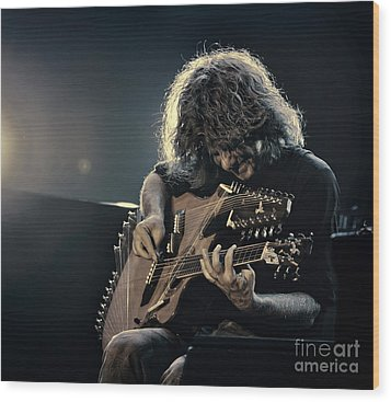 Pat Metheny Wood Print