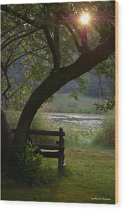 Wood Print featuring the photograph Peaceful Moment by Tannis  Baldwin