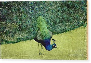 Peacock Plume Wood Print