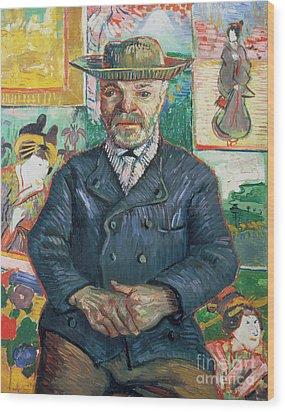 Pere Tanguy Wood Print by Vincent van Gogh