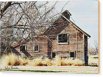 Wood Print featuring the photograph Petite Barn by Sylvia Thornton
